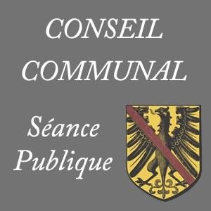 Séance du conseil communal